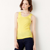 Ladies' 2x1 Rib Cotton Tank Top