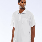 Adult Cool & Dry Sport Mesh Performance Polo with Pocket