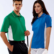 Adult Cool & Dry Sport Two-Tone Mesh Performance Polo