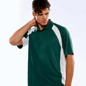 Adult Cool & Dry Sport Performance Color Block Interlock Polo
