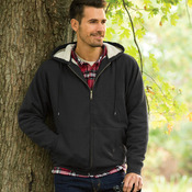 Adult Sherpa-Lined Full-Zip Fleece with Hood