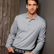 Men's Egyptian Interlock Cotton Long-Sleeve Polo