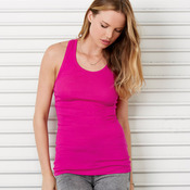 Ladies' Sheer Rib Racer-Back Blend Tank