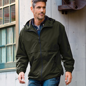 Adult Microfiber Hooded Zip-Front Jacket