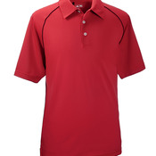 ClimaLite Piped Pique Colorblock Performance Polo