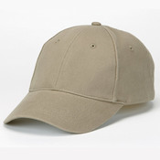 Solid Brushed Twill Constructed Cotton Cap