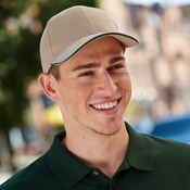 Constructed Brush Twill Cotton Sandwich Cap