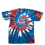 Gildan Tie-Dye Adult Cotton Rainbow Cut Spiral Tee