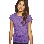 Youth Princess Poly/Cotton Burnout Tee