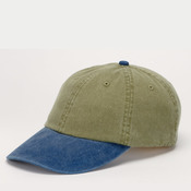 Cotton Pigment-Dyed Unconstructed Two-Tone Khaki Optimum Cap