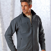 Adult Polyester Soft Shell Jacket with Cadet Collar