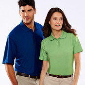 Adult Cool & Dry Elite Tonal Stripe Performance Polo